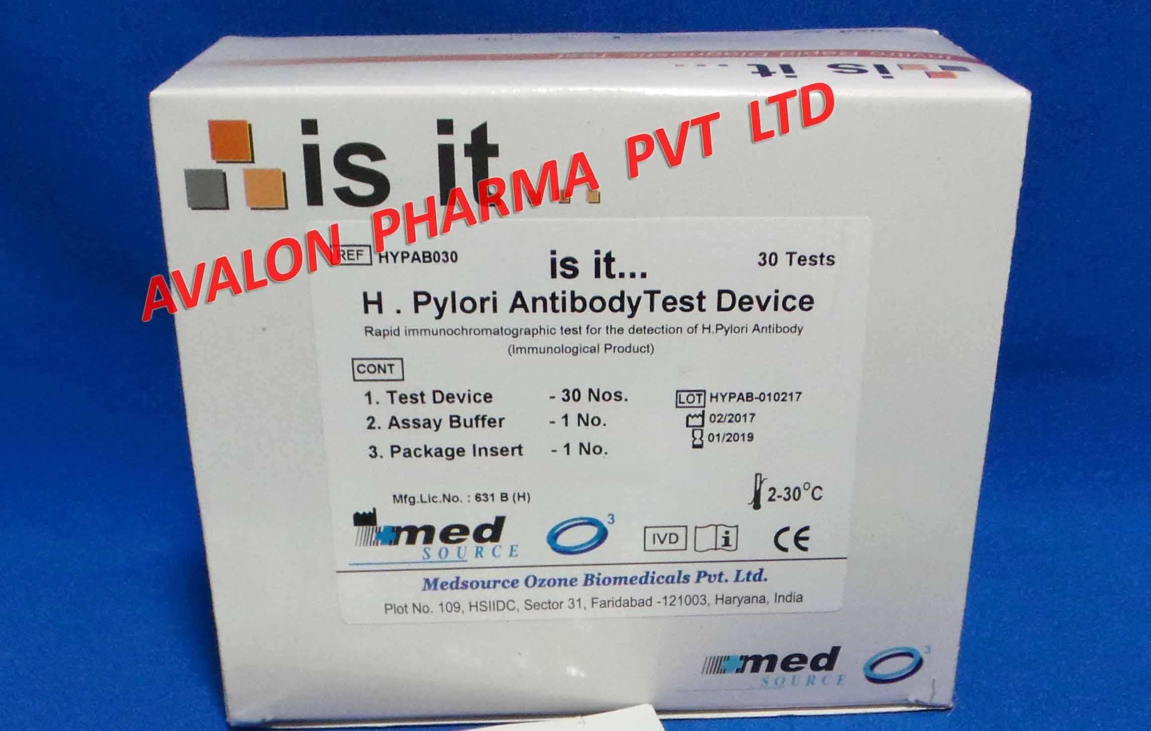 H. Pylori Anitbody test kit